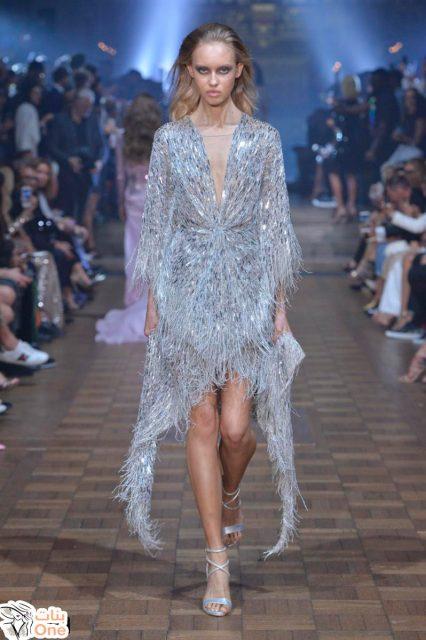 فساتين سهرة مميزة في عرض أزياء Julien Macdonald في ساحة الموضة بلندن 