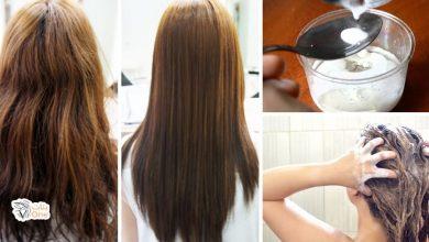 طريقة فرد الشعر بوصفات طبيعية مجربة