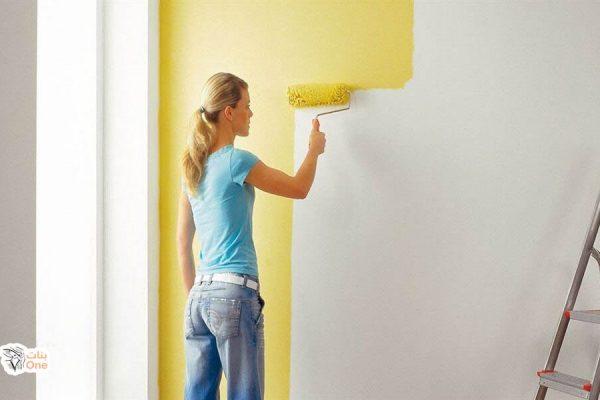 طريقة دهان الجدران بنفسك بنات One