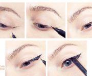 طريقة رسم الايلاينر للعيون الصغيرة