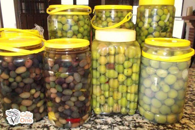 طريقة عمل مخلل الزيتون الأخضر