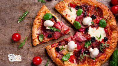 طريقه عمل البيتزا بعجينة هشة وسريعة