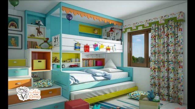 غرف اطفال ثلاث ادوار مودرن