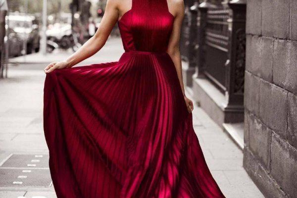 أجمل فساتين سواريه احمر موضة صيف 2020