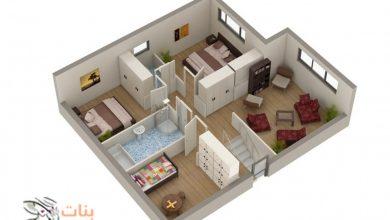 مخططات تصميم منزل من 3 غرف
