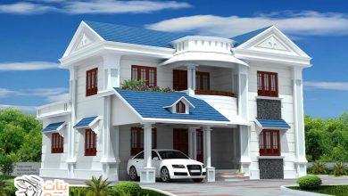 تصاميم فلل 5 غرف نوم بمساحات مختلفة