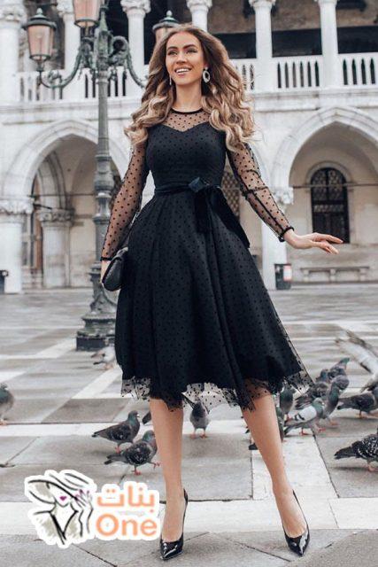 أحدث تصاميم فستان سهرة اسود