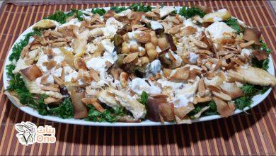 طريقة عمل فتة الدجاج بالأرز والطحينة