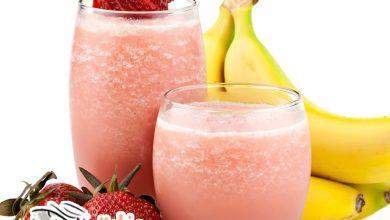 طريقة عمل عصير الفراولة والموز