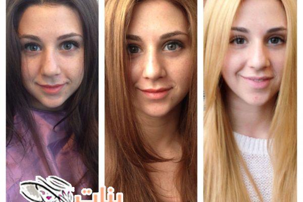 طريقة تفتيح الشعر الغامق بنات One