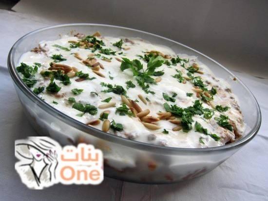 طريقة الفتة اللبنانية بالدجاج والزبادي