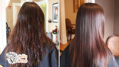 طريقة فرد الشعر بالكيراتين في المنزل