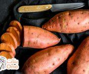 طريقة شوي البطاطا الحلوة بالميكرويف