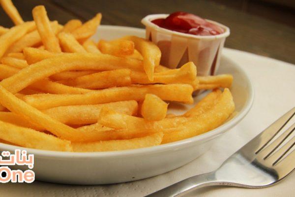 طريقة قلي البطاطس المقرمشة