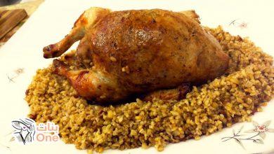 طريقة عمل دجاج محشي بالفريك