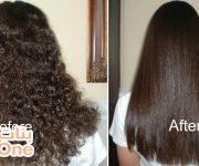 طريقة تمليس الشعر في المنزل