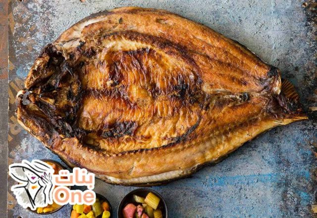 طريقة شوي سمك الدنيس