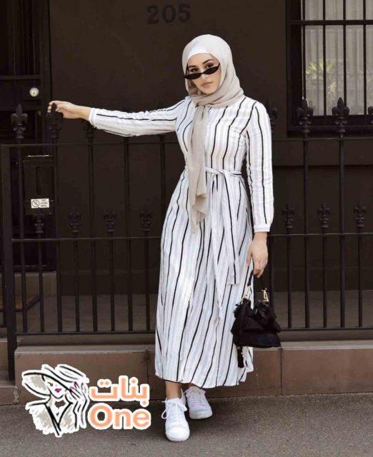 بالصور ملابس محجبات كاجوال 2021 بألوان صيفية