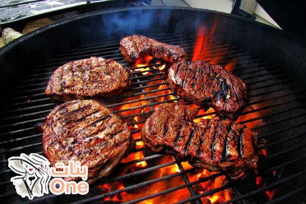 طرق شوي اللحم على الفحم