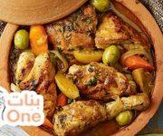 طريقة عمل طاجن الدجاج المغربي بالزيتون والليمون