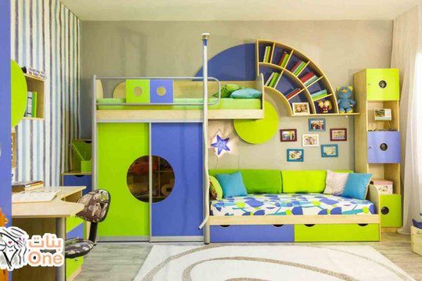 أجمل غرف نوم اطفال مودرن 2021 بسريرين