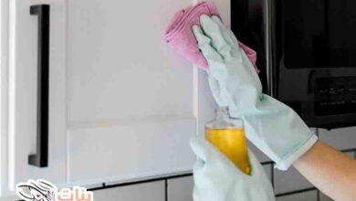 كيف أنظف جدران المطبخ من الدهون