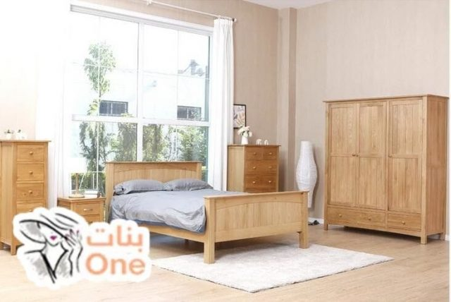 ديكورات غرف نوم خشب طبيعي 2021