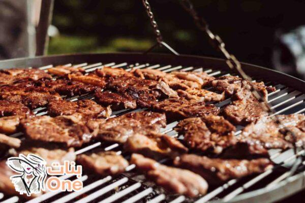 طريقة شوي اللحم بوصفة شهية