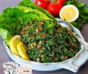 مكونات التبولة اللبنانية